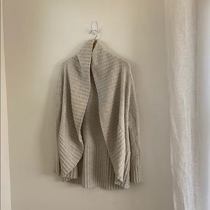 A New Day Pale Gray/White Cardigan